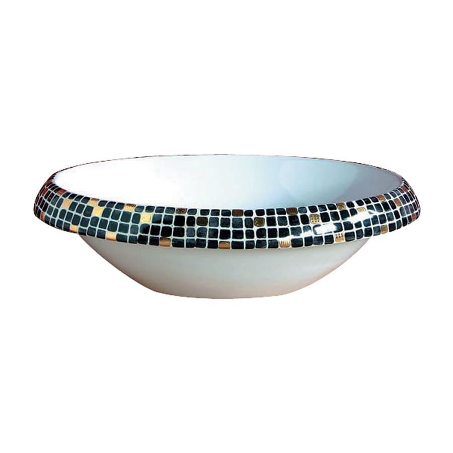 WS Bath Collections Ceramica Impero Nero Ceramic Vessel Round Bathroom Sink