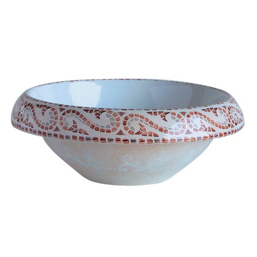 WS Bath Collections Ceramica Casablanca Ceramic Vessel Round Bathroom Sink
