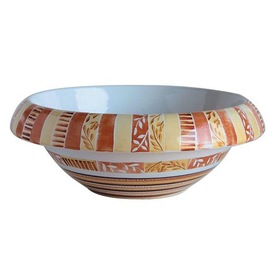 WS Bath Collections Ceramica Tribal Ceramic Vessel Round Bathroom Sink