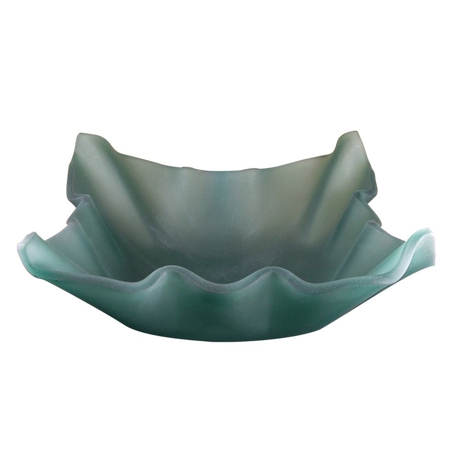 Yosemite Home Decor Jade Frosted Glass Vessel Bathroom Sink