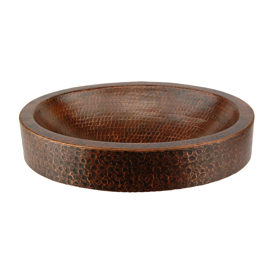 ... Copper Products Oil-Rubbed Bronze Copper Vessel Oval Bathroom Sink