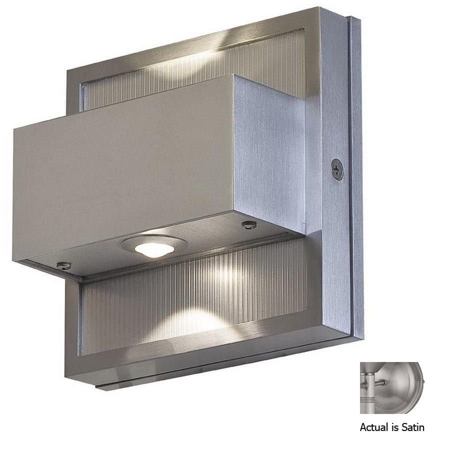 Access Lighting 5-1/4-in Satin Outdoor Wall Light