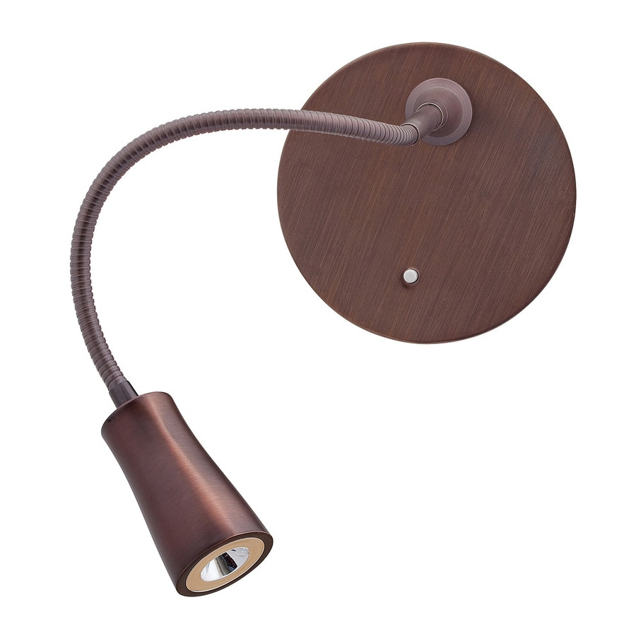 Shop access lighting led gooseneck 5 in w 1 light bronze arm plug in led wall sconce at - Gooseneck wall sconce ...