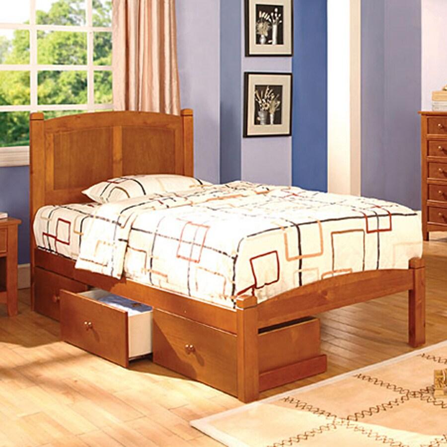Furniture of America Cara Oak Twin Panel Bed