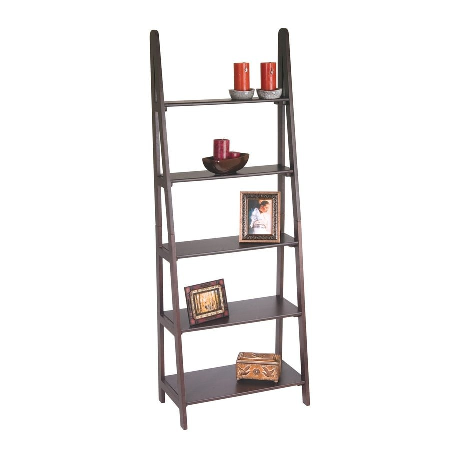 Office Star OSP Designs Espresso 5-Shelf Bookcase