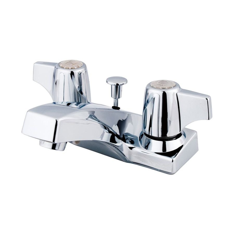 Elements of Design Columbia Polished Chrome 2-Handle 4-in Centerset Bathroom Faucet (Drain Included)