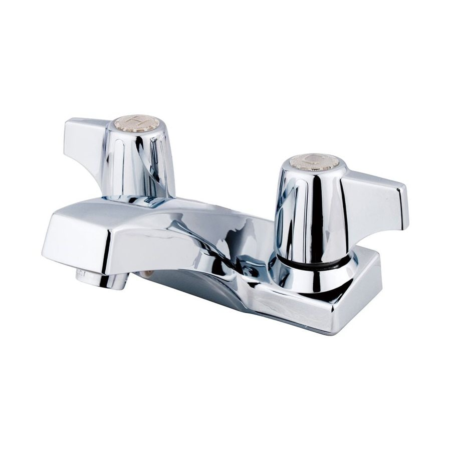 Elements of Design Columbia Polished Chrome 2-Handle 4-in Centerset Bathroom Faucet
