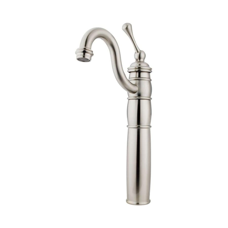 Shop Elements Of Design Baltimore Satin Nickel 1 Handle Single Hole Bathroom Sink Faucet At
