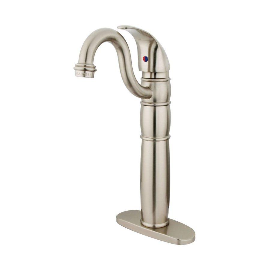 Elements of Design Baltimore Satin Nickel 1-Handle Single Hole Bathroom Faucet