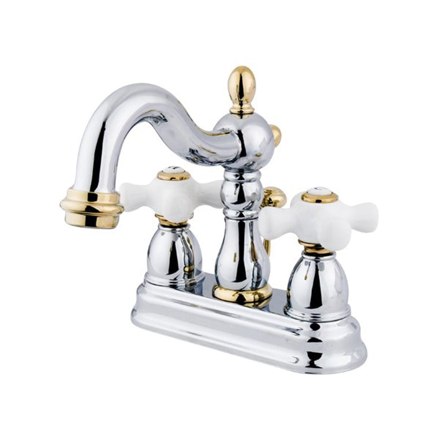 Shop Elements Of Design New Orleans Chrome Polished Brass 2 Handle 4 In Centerset Bathroom
