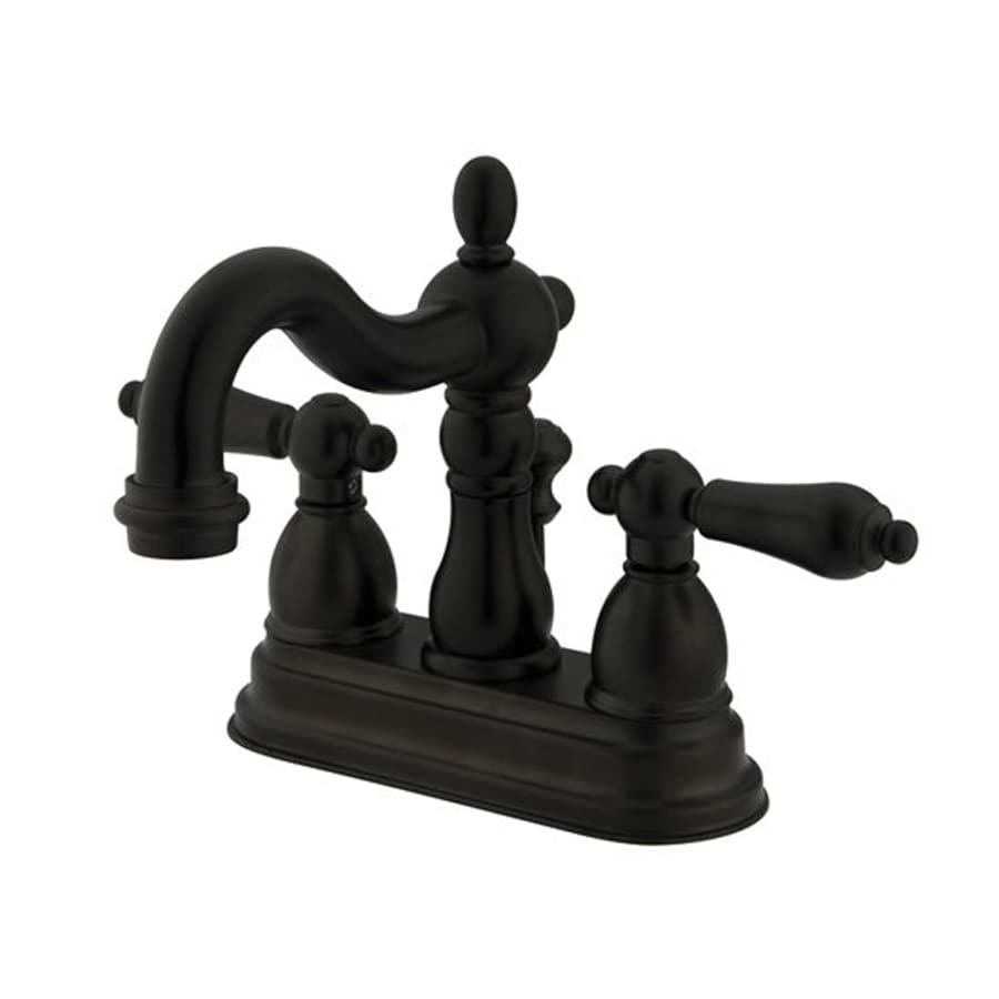 Elements of Design New Orleans Oil-Rubbed Bronze 2-Handle 4-in Centerset Bathroom Faucet (Drain Included)