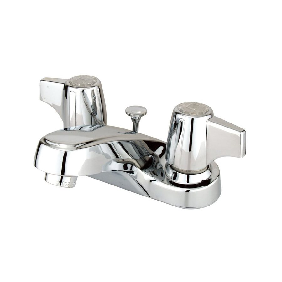 Elements of Design Americana Polished Chrome 2-Handle 4-in Centerset Bathroom Faucet (Drain Included)