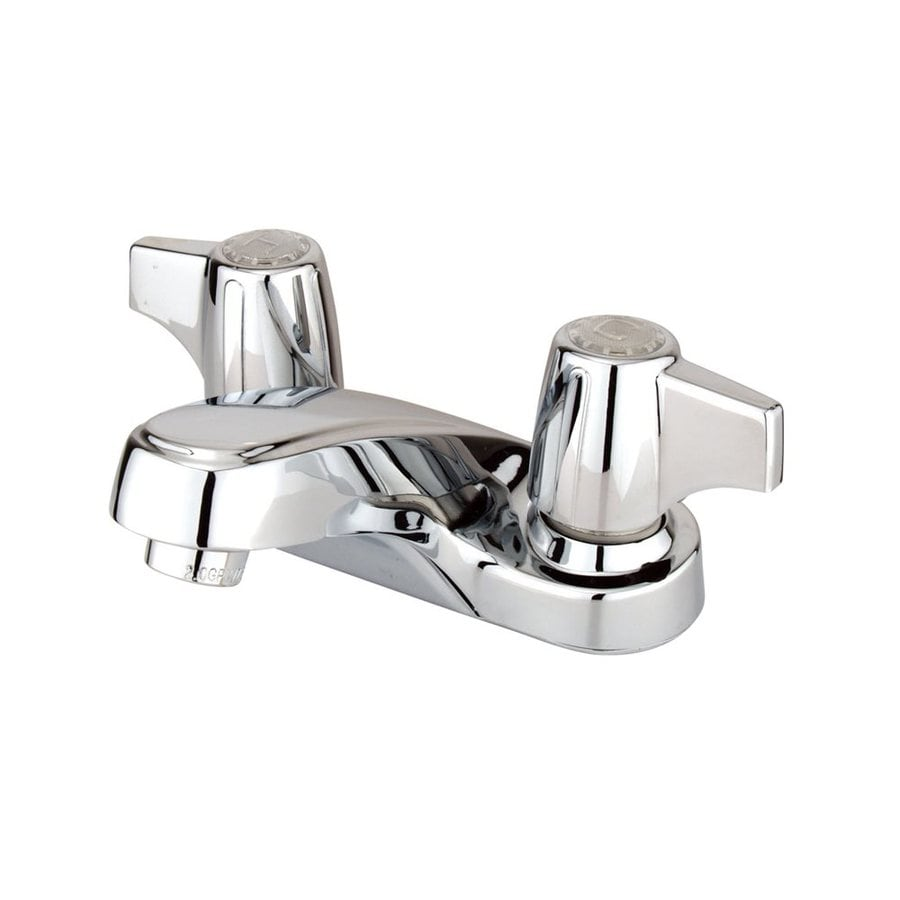 Elements of Design Americana Polished Chrome 2-Handle 4-in Centerset Bathroom Faucet