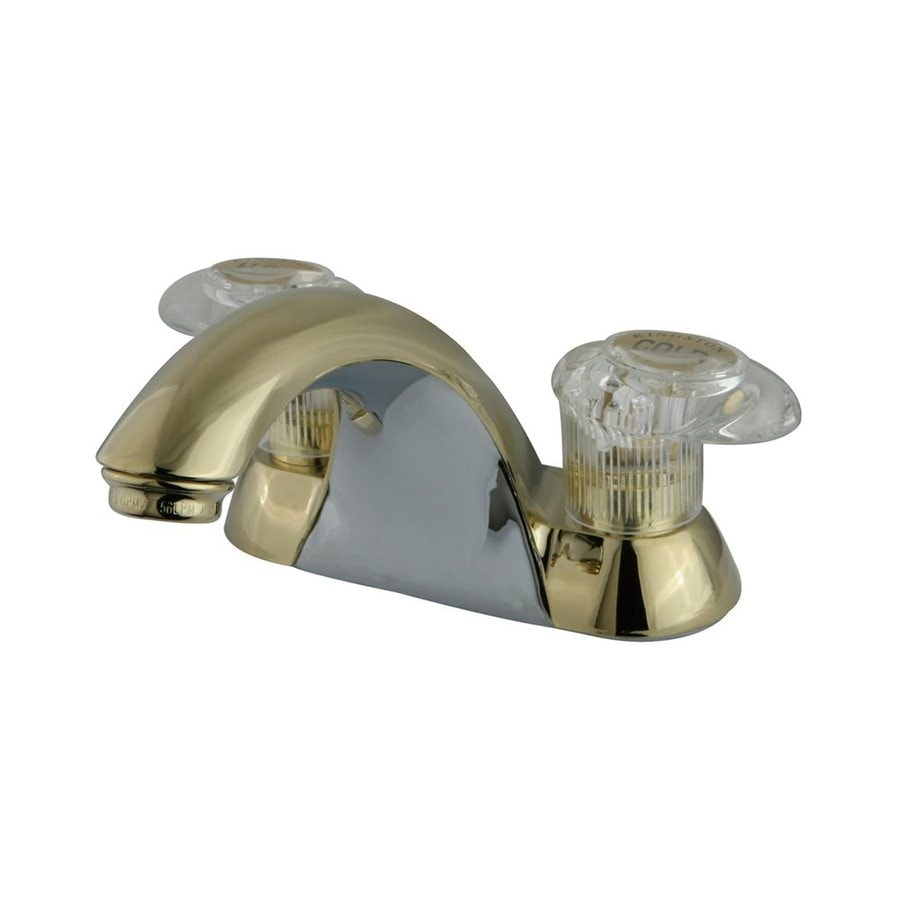 Elements of Design St. Charles Polished Brass 2-Handle 4-in Centerset Bathroom Faucet