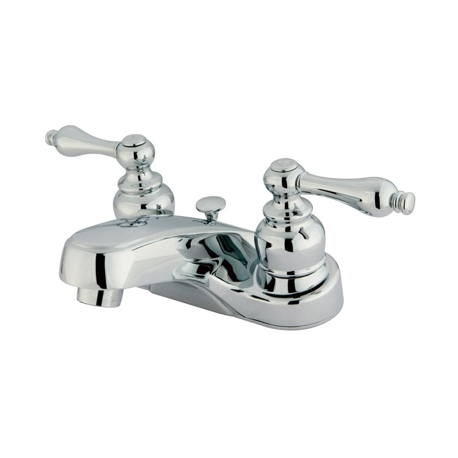 Elements of Design Victorian Polished Chrome 2-Handle 4-in Centerset Bathroom Faucet (Drain Included)