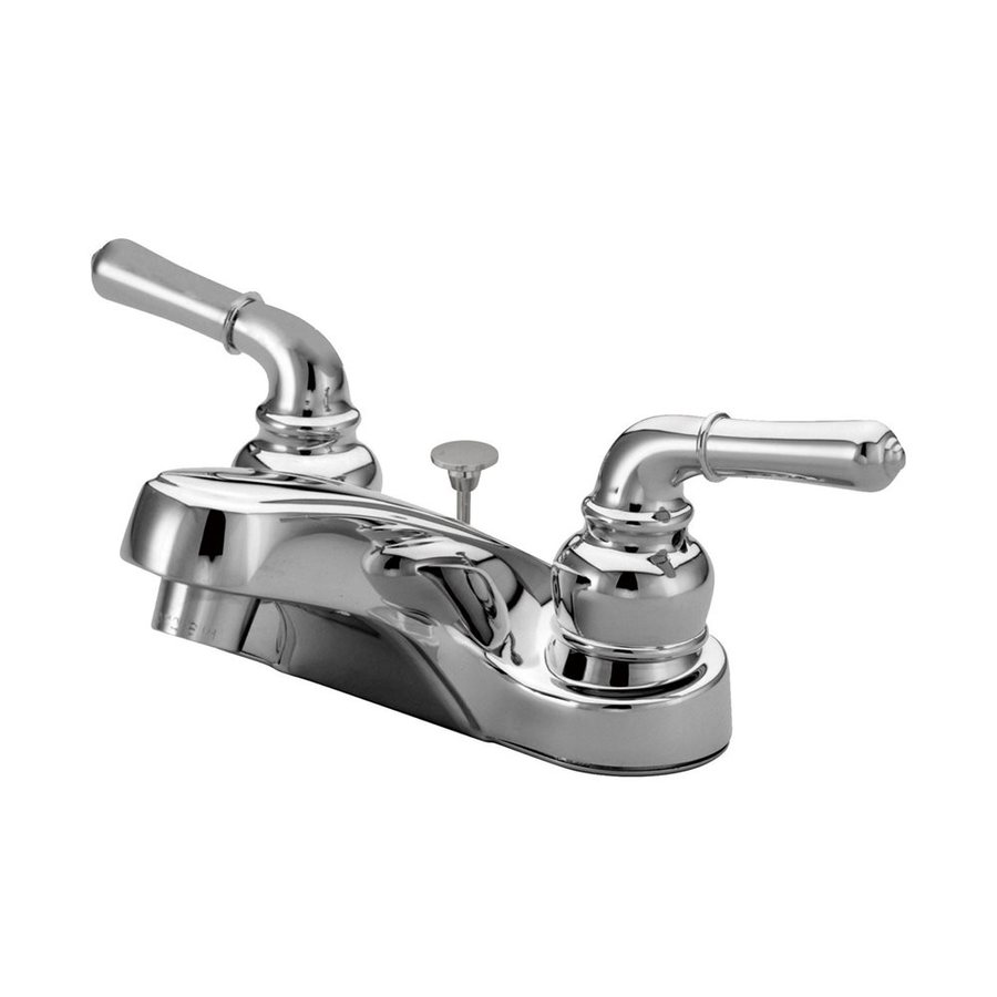 Elements of Design Magellan Polished Chrome 2-Handle 4-in Centerset Bathroom Faucet (Drain Included)