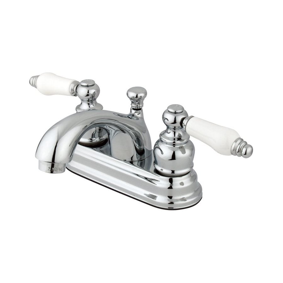 Elements of Design Chicago Polished Brass 2-Handle 4-in Centerset Bathroom  Faucet (
