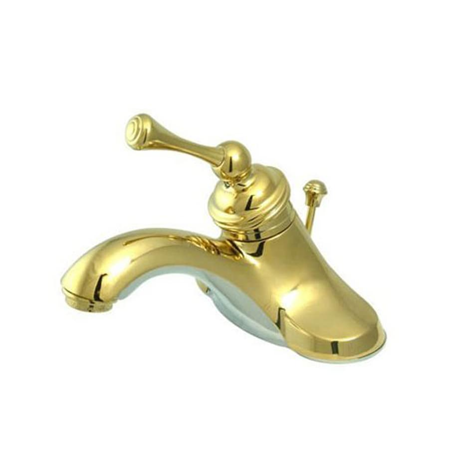 Shop Elements of Design Hot Springs Polished Brass 1-Handle 4-in ...