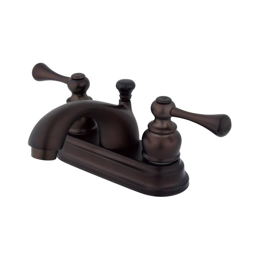Elements of Design St. Louis Oil-Rubbed Bronze 2-Handle 4-in Centerset Bathroom Faucet (Drain Included)