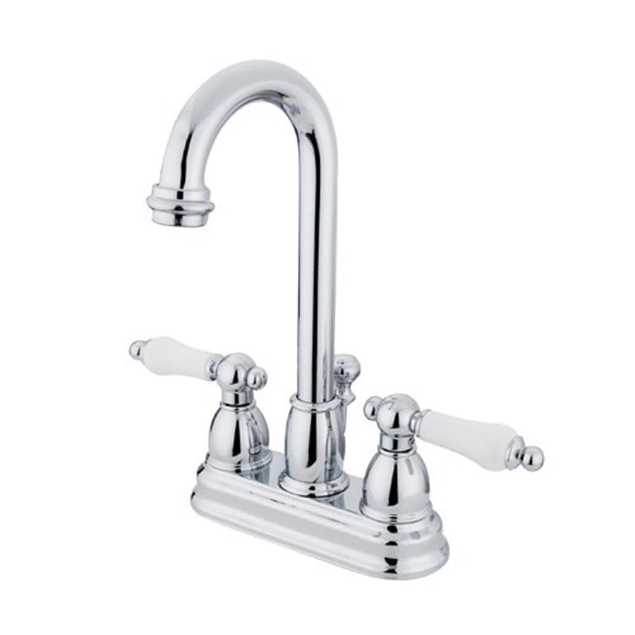 Elements of Design Chicago Chrome 2-Handle 4-in Centerset Bathroom Faucet (Drain Included)
