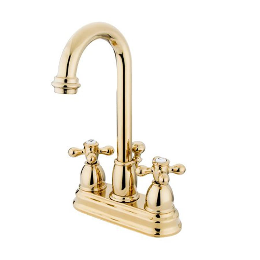 Shop Elements of Design Chicago Polished Brass 2-Handle 4-in ...