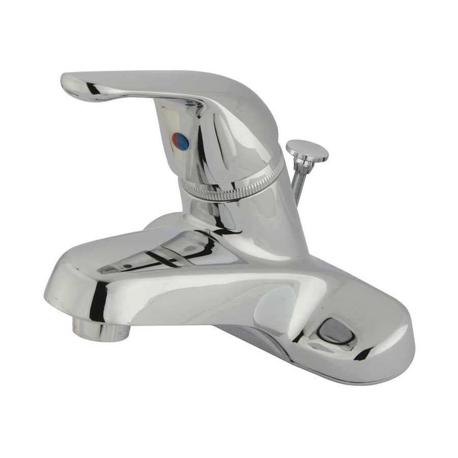 Elements of Design Chatham Polished Chrome 1-Handle 4-in Centerset Bathroom Faucet (Drain Included)