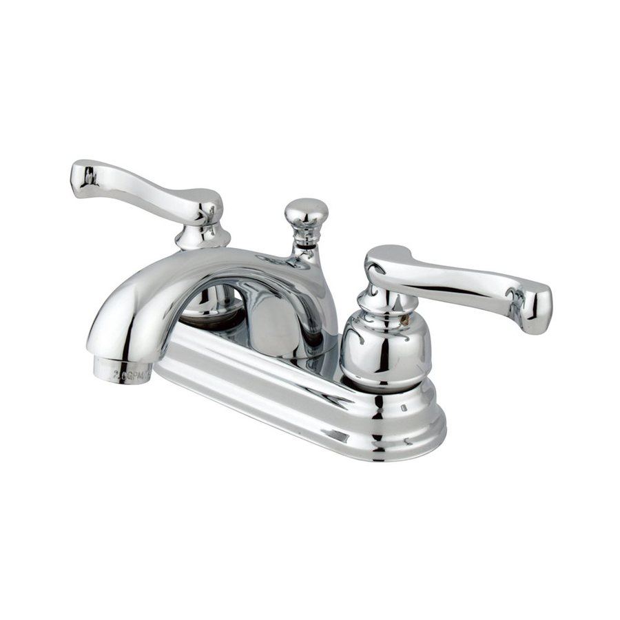 Elements of Design Atlanta Polished Chrome 2-Handle 4-in Centerset Bathroom Faucet (Drain Included)