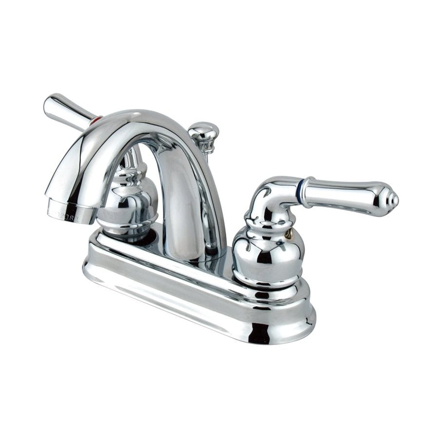 Shop Elements Of Design St Charles Polished Chrome 2 Handle 4 In Centerset Bathroom Faucet