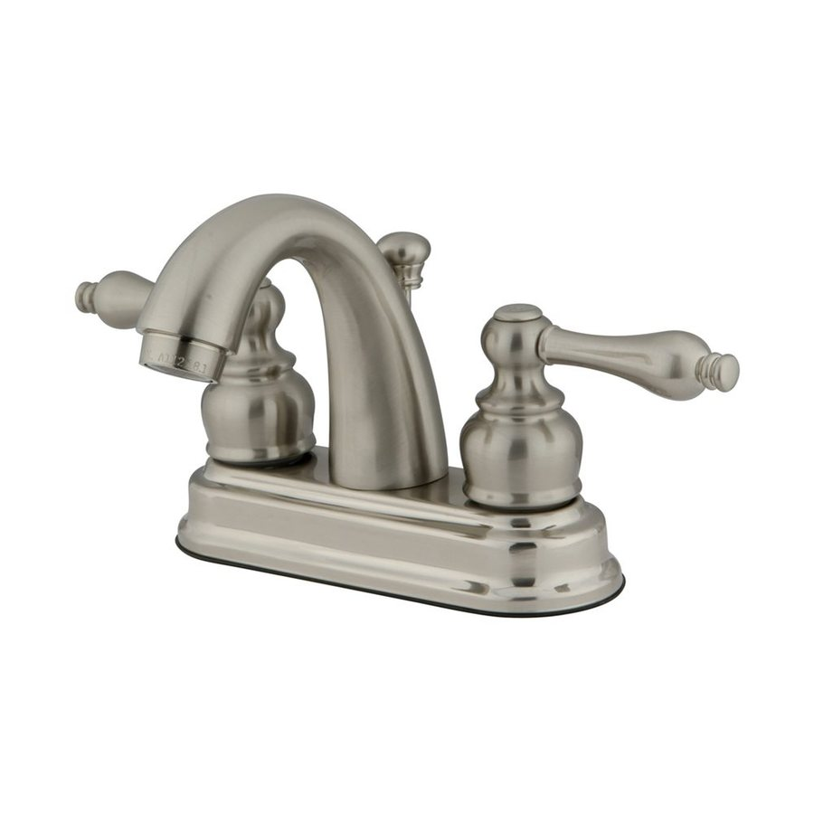 Elements of Design Chicago Satin Nickel 2-Handle 4-in Centerset Bathroom Faucet (Drain Included)