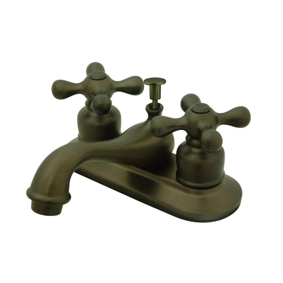 Elements of Design Elizabeth Oil-Rubbed Bronze 2-Handle 4-in Centerset Bathroom Faucet (Drain Included)
