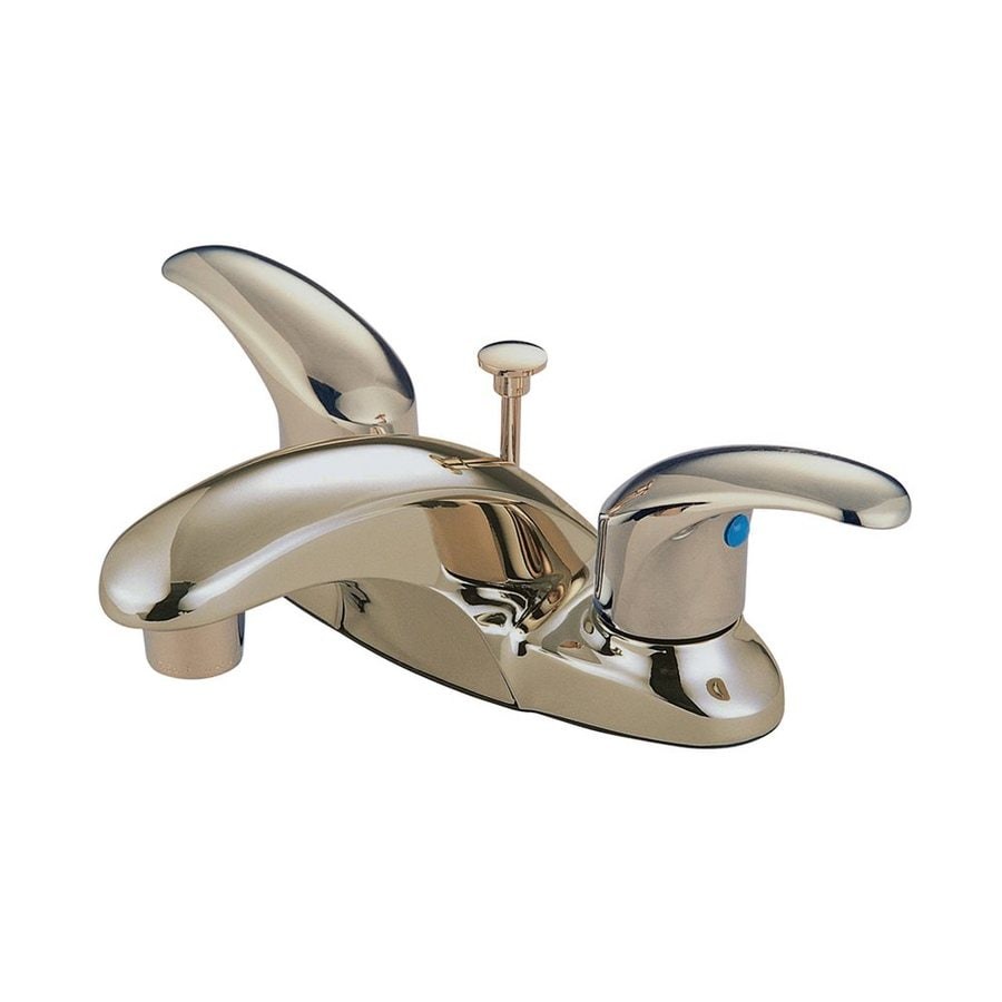 Elements of Design Daytona Satin Nickel 2-Handle 4-in Centerset Bathroom Faucet (Drain Included)