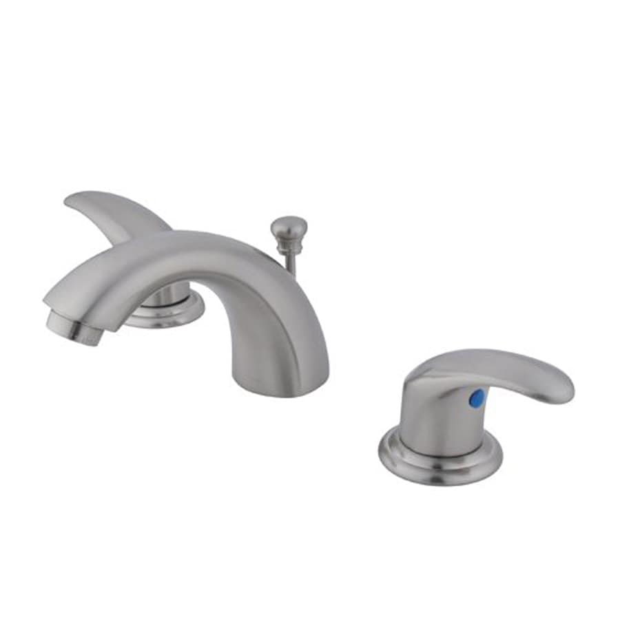 Elements Of Design Daytona Satin Nickel 2 Handle 4 In Mini Widespread Bathroom Faucet Drain