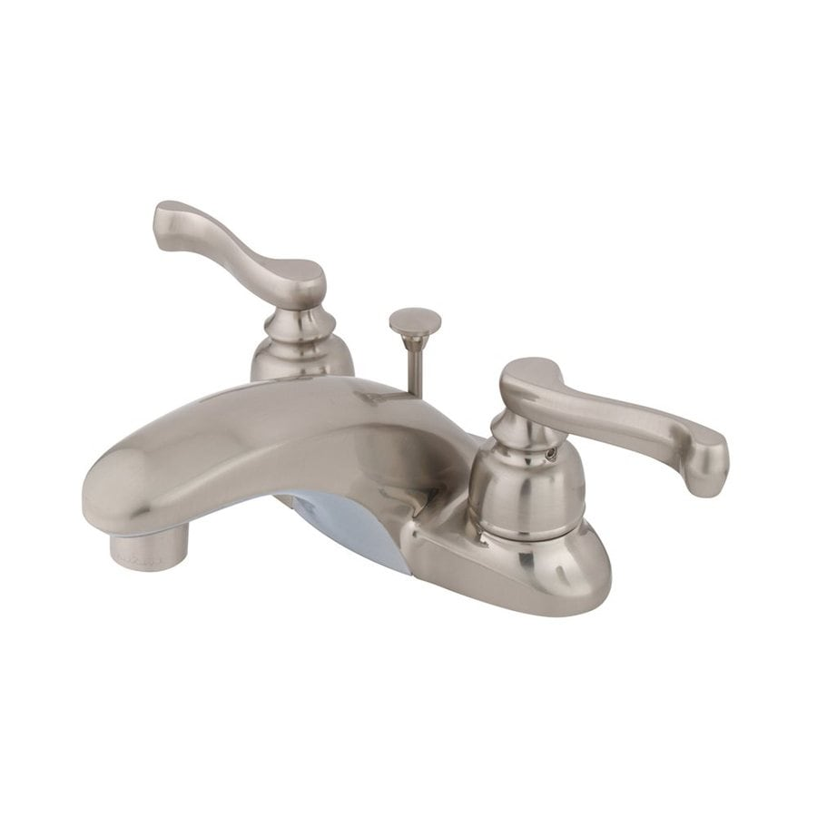 Elements of Design Royale Satin Nickel 2-Handle 4-in Centerset Bathroom Faucet (Drain Included)