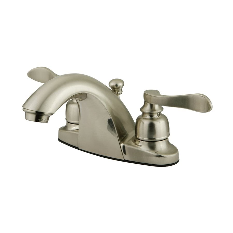Elements of Design Nuwave French Satin Nickel 2-Handle 4-in Centerset Bathroom Faucet (Drain Included)