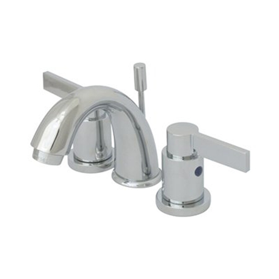 Elements of Design Nuvofusion Polished Chrome 2-Handle 4-in Mini Widespread Bathroom Faucet (Drain Included)