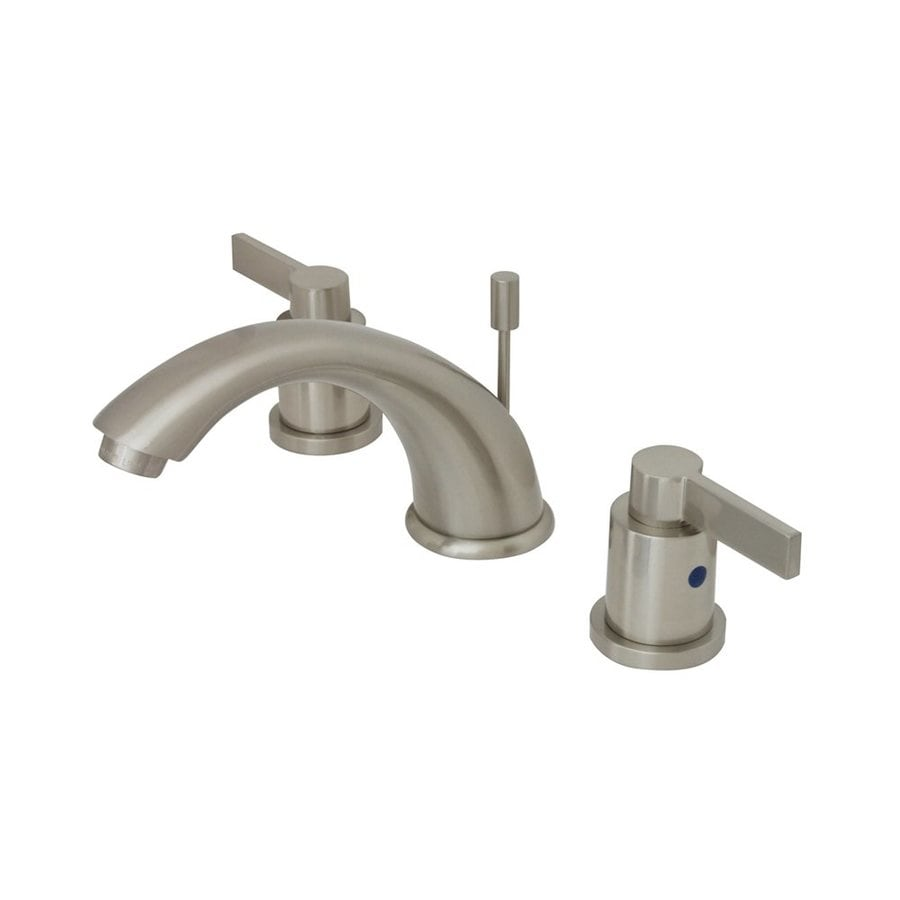 Elements of Design NuVoFusion Satin Nickel 2-handle Widespread Bathroom Sink Faucet