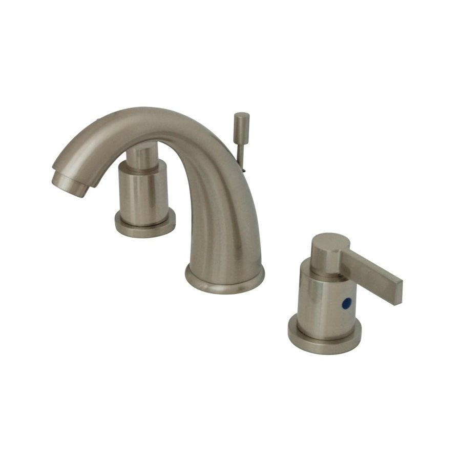 Elements of Design Nuvofusion Satin Nickel 2-Handle Widespread Bathroom Faucet (Drain Included)