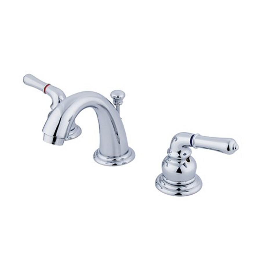 Elements of Design Magellan Chrome 2-Handle 4-in Mini Widespread Bathroom Faucet (Drain Included)