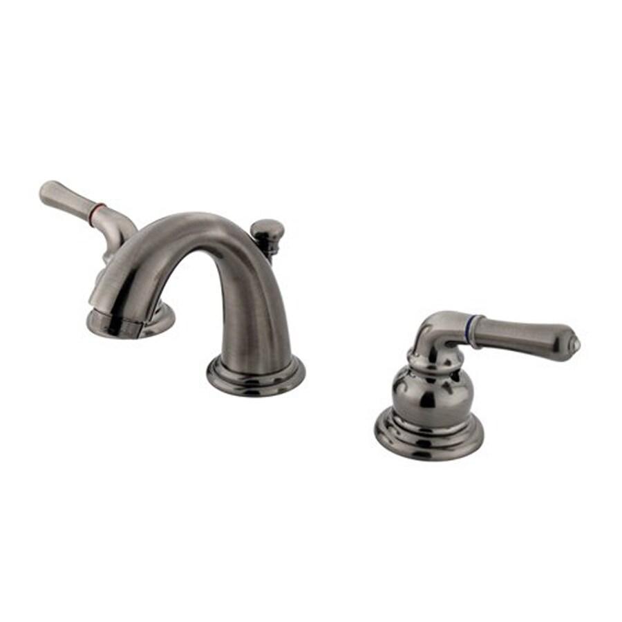 Elements of Design Magellan Vintage Nickel 2-Handle 4-in Mini Widespread Bathroom Faucet (Drain Included)