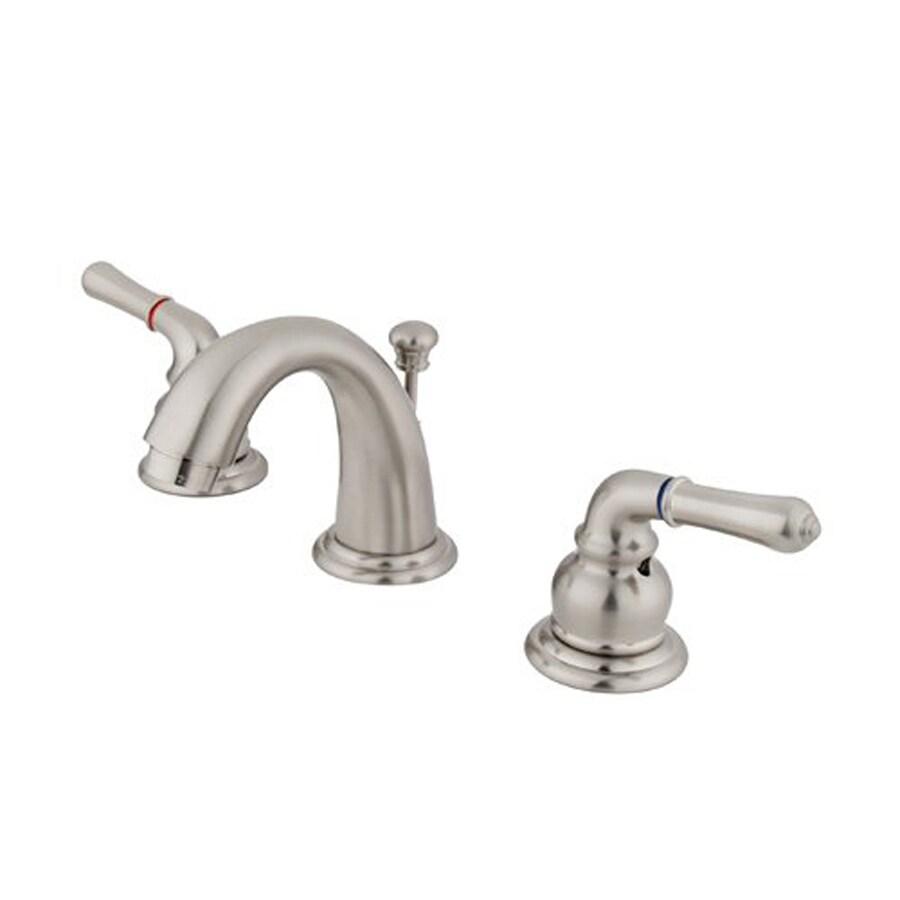 Elements of Design Magellan Satin Nickel 2-Handle 4-in Mini Widespread Bathroom Faucet (Drain Included)