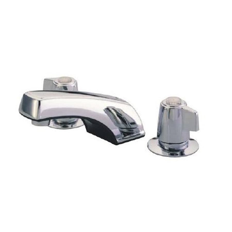 Elements of Design Chrome 2-Handle Widespread Bathroom Faucet (Drain Included)
