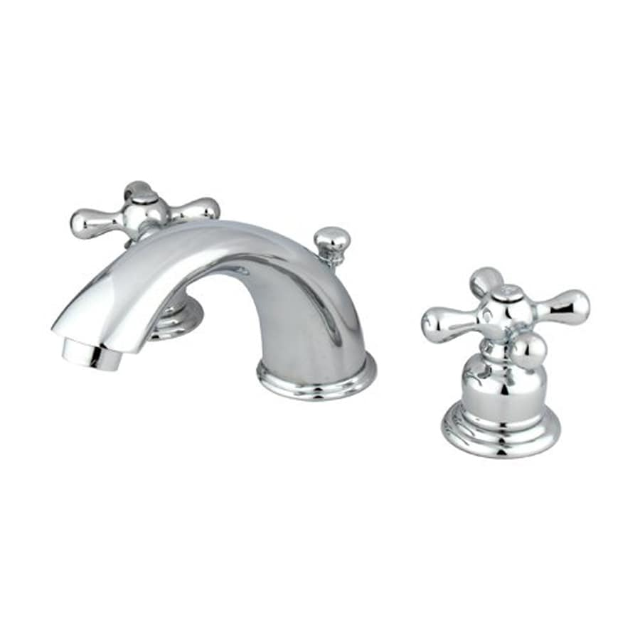 Shop elements of design chrome 2 handle widespread for Bathroom faucets lowes