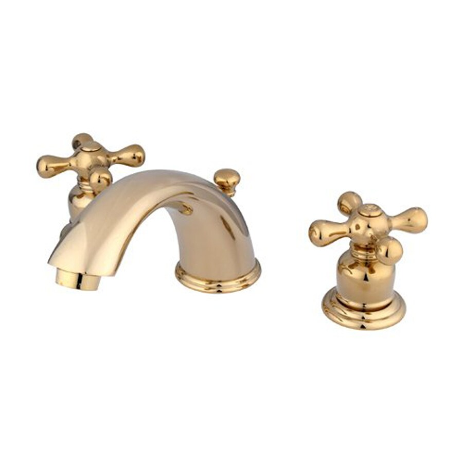 Shop Elements Of Design Polished Brass 2 Handle Widespread Bathroom Faucet At
