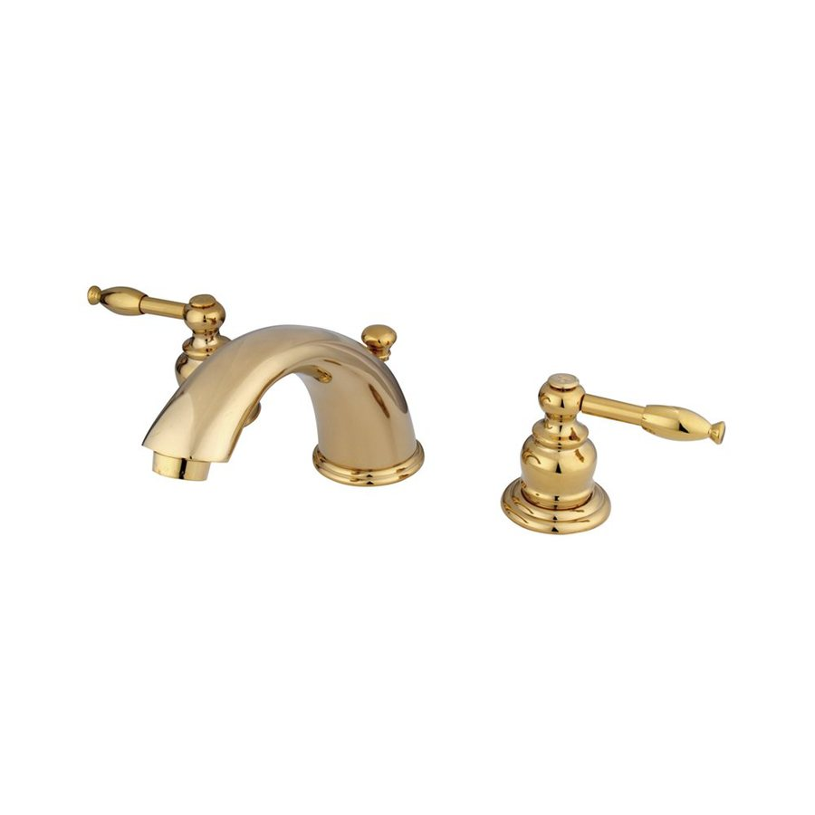 Brass Bathroom Faucets Widespread : ... Design Polished Brass 2-Handle Widespread Bathroom Faucet at Lowes.com