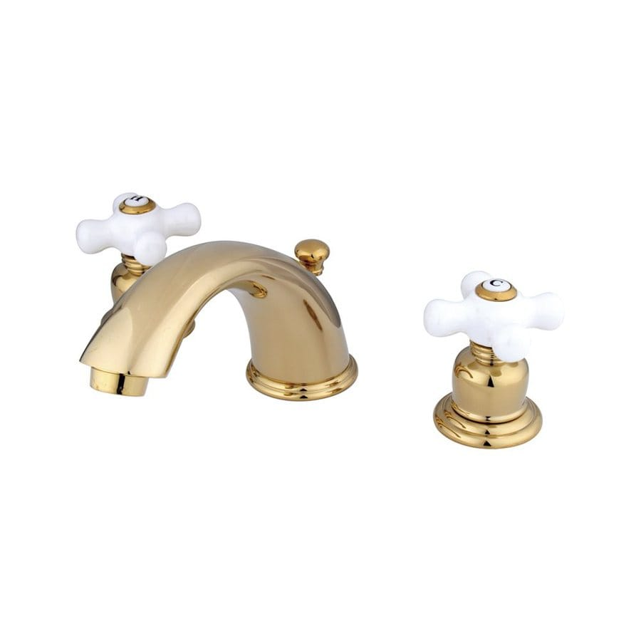Elements of Design Polished Brass 2-Handle Widespread Bathroom Faucet