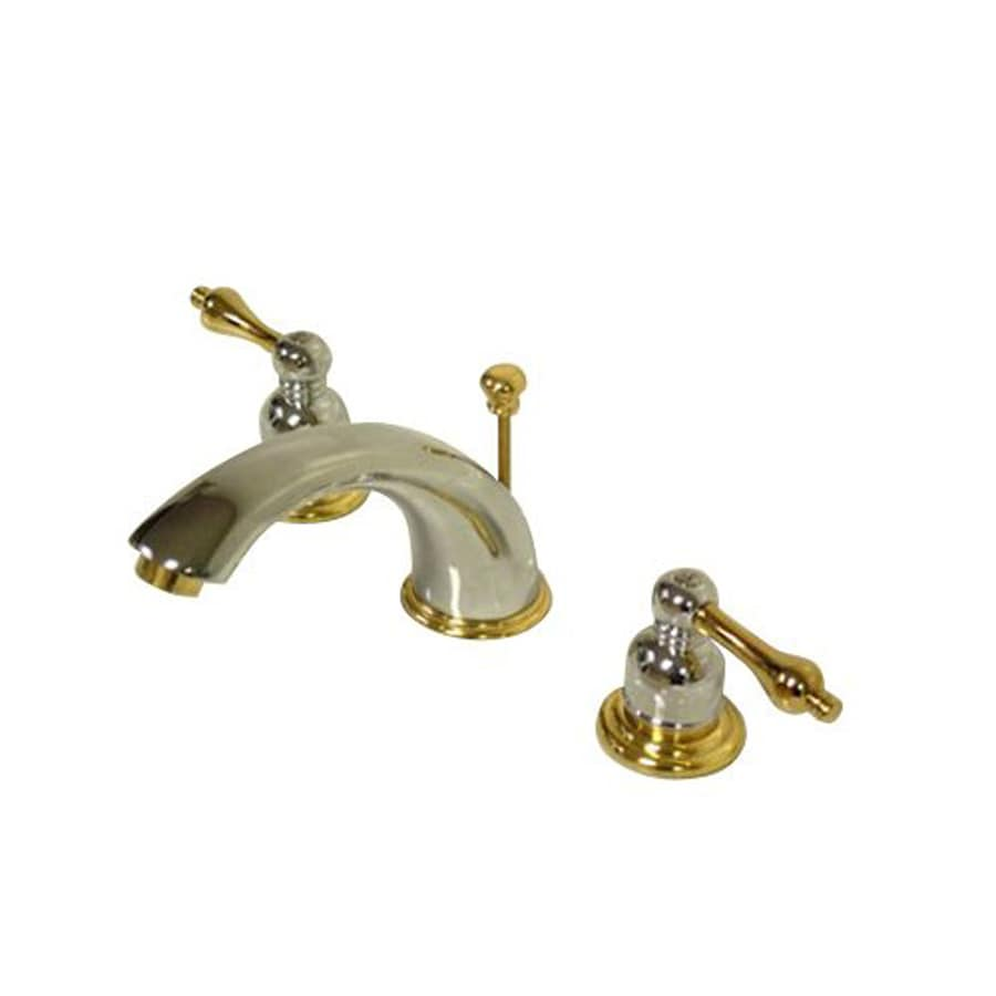 Brass Bathroom Faucets Widespread : ... /Polished Brass 2-Handle Widespread Bathroom Faucet (Drain Included