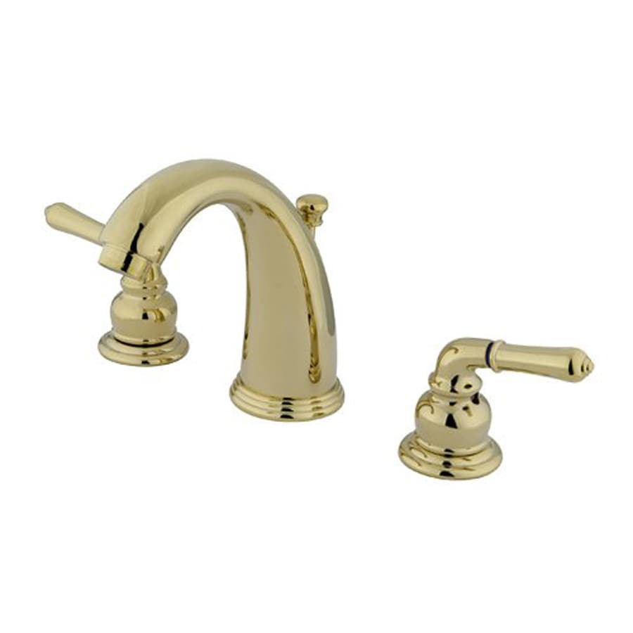 Elements of Design Magellan Polished Brass 2-Handle Widespread Bathroom Faucet (Drain Included)