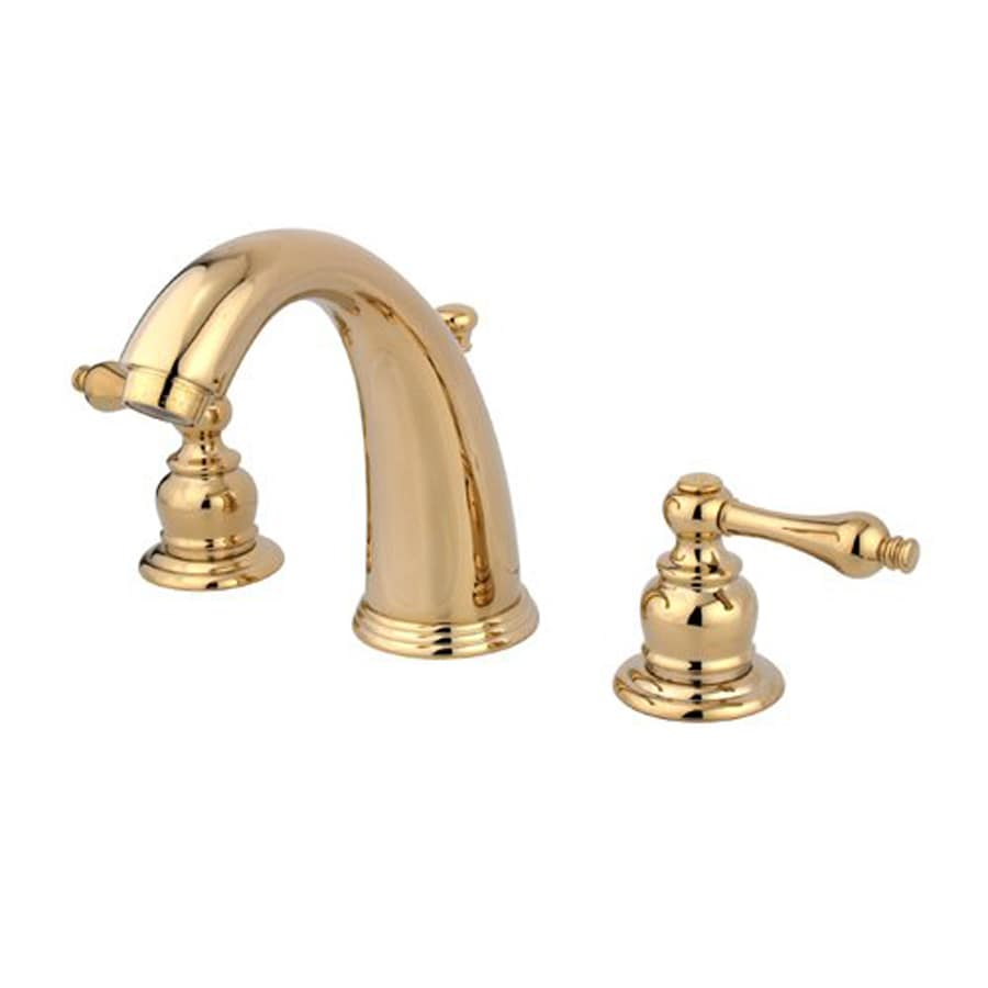 Shop Elements of Design Magellan Polished Brass 2-Handle Widespread ...