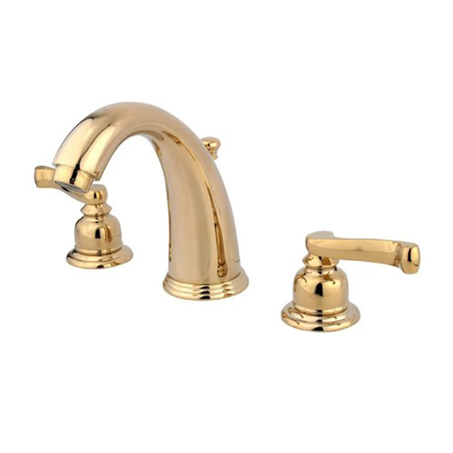 Elements Of Design Magellan Polished Brass 2 Handle Widespread Bathroom Faucet Drain Included