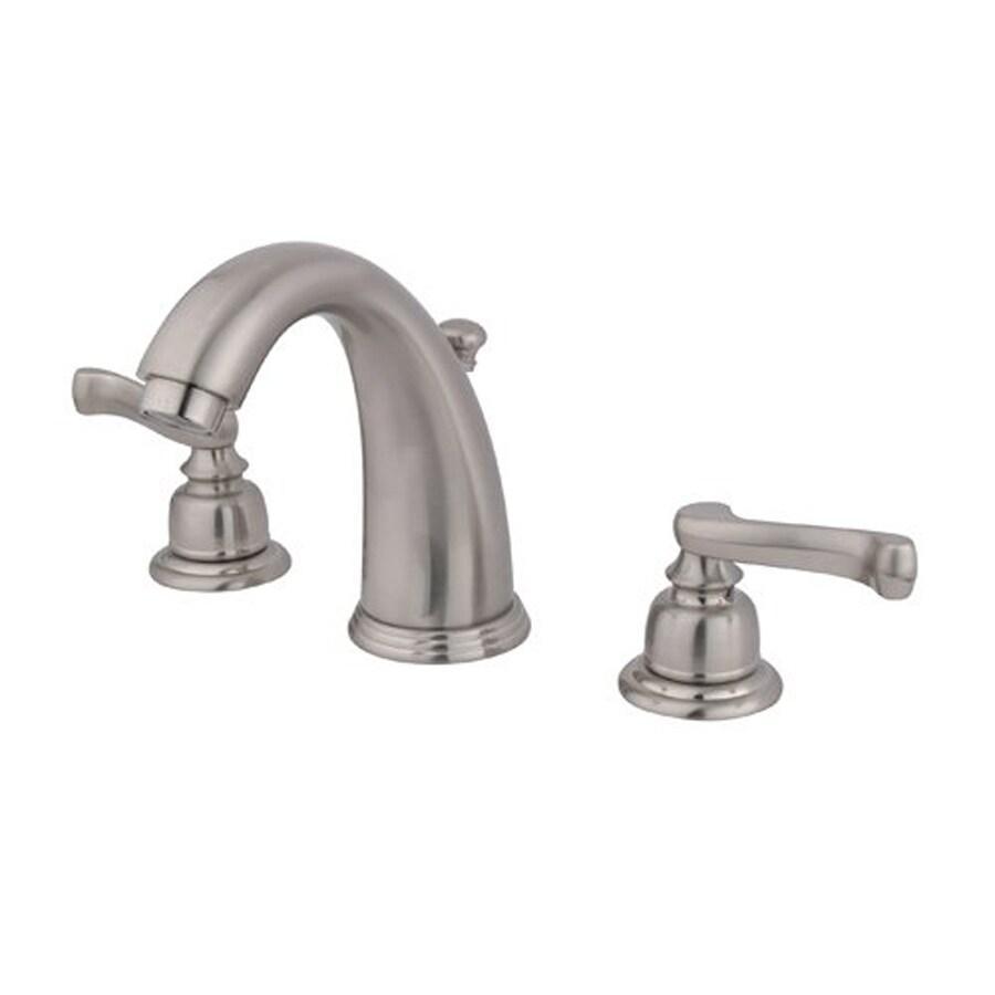Elements of Design Magellan Satin Nickel 2-Handle Widespread Bathroom Faucet (Drain Included)